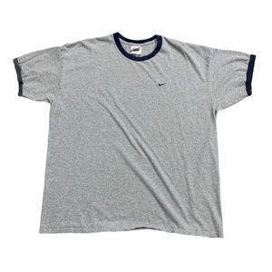 Vintage 90s Grey/Navy Nike Ringer Tee